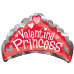 "27"" Valentine Princess Holographic SuperShape Foil Balloon"